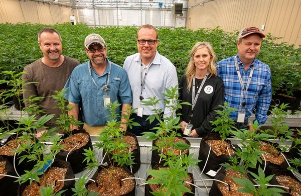 THE TEAM: Danny Brown, Cayne Orman, Robert Lercher, Misty Drennan and Mark Drennan will be the first to produce medical marijuana products in Arkansas. - BRIAN CHILSON