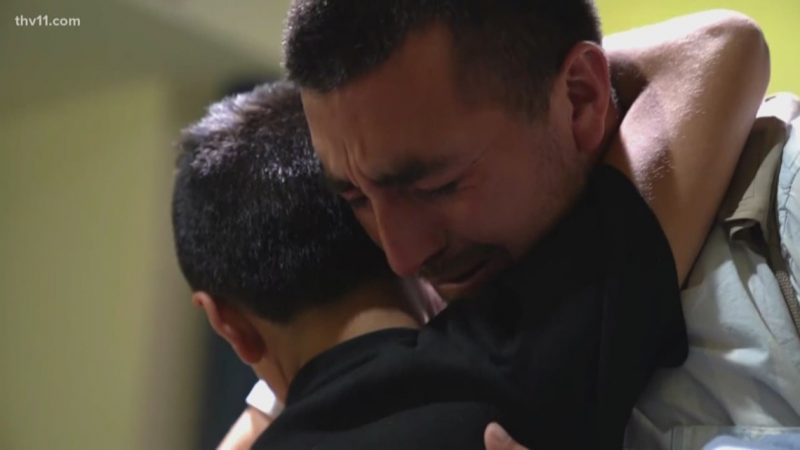 WATCH: Father and son separated at border reunite in Arkansas after 326 days