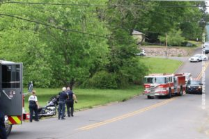 Injury Motorcycle Crash On Richard Street At Freida Street - HOT SPRINGS