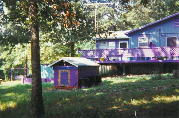 AT THE COMPOUND: Purple is the color for the main dwelling. - COURTESY SHAKEENAH KEDEM-FENTIS