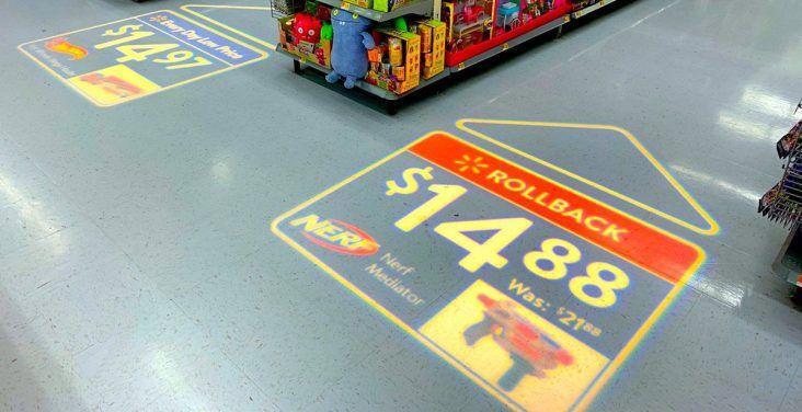 Walmart Is Testing LED-Projected Floor Ads In Bentonville Store