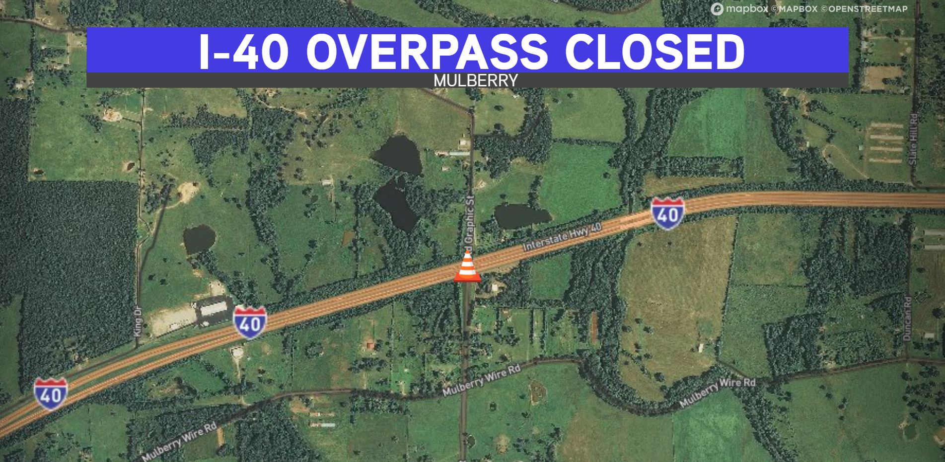 Interstate 40 Overpass Closing For 3 Weeks For Deck Rehabilitation