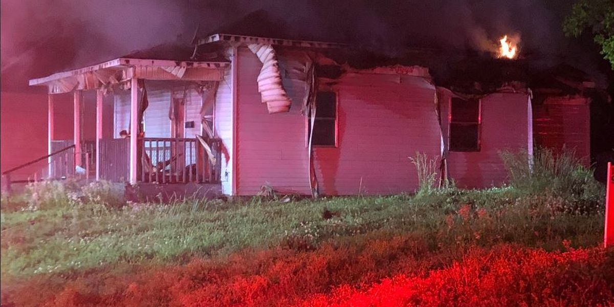 Jonesboro home goes up in flames; more storms on the way