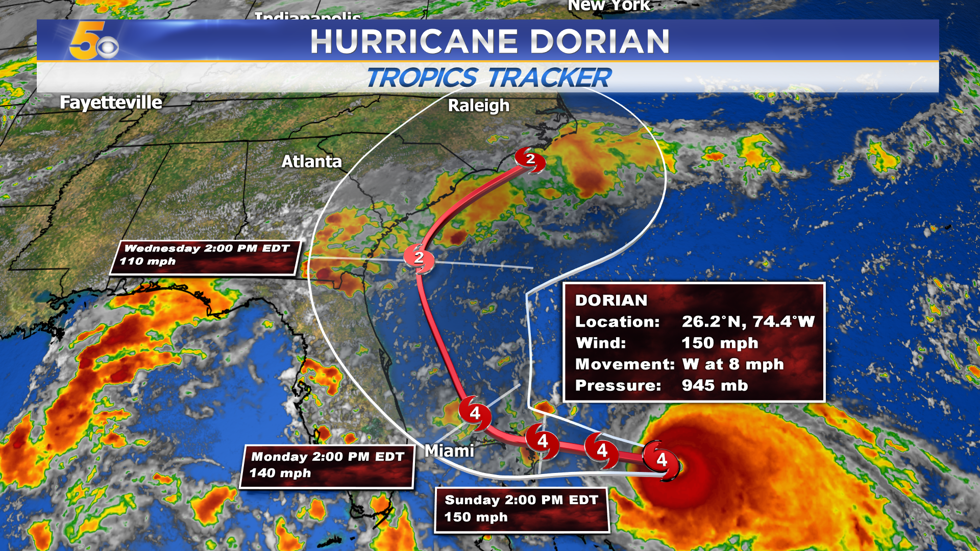 Latest On Hurricane Dorian: Major Storm But Landfall Unclear