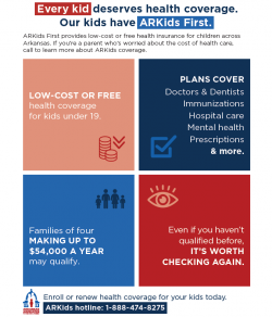 ARKids First: Low-Cost or Free Health Insurance for Arkansas's Children