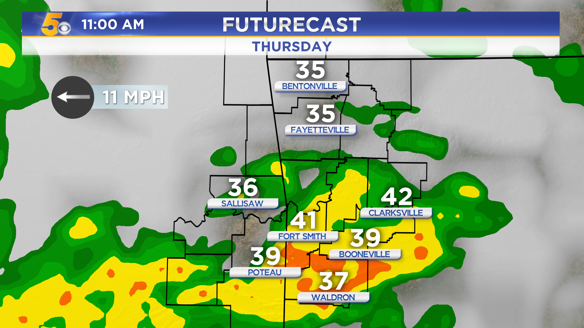 Steady Cold Rain For Thanksgiving