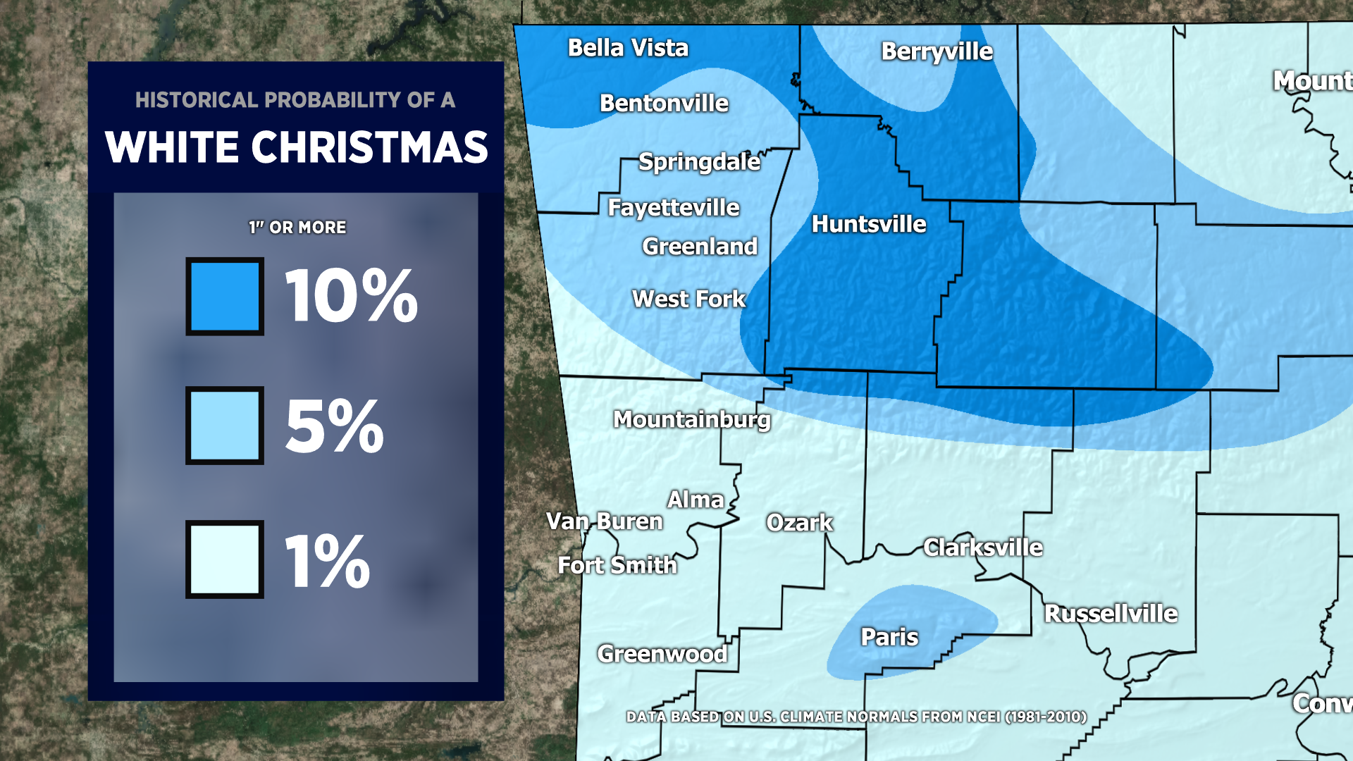 Will We Have A White Christmas? – Historical Probabilities