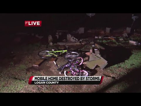 VIDEO: Mobile Home Destroyed By Storms