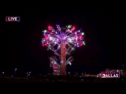 VIDEO: Reunion Tower Fireworks Show