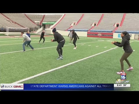 Watch: AM versus PM Football game