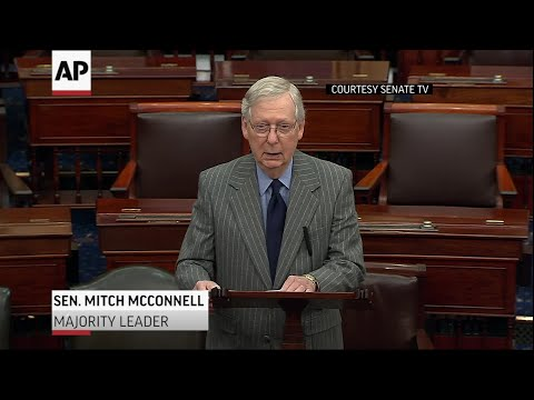 Watch: Senate Majority leader Mitch McConnell speaks on articles of impeachment