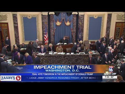Watch: Partisan split apparent going into final impeachment vote