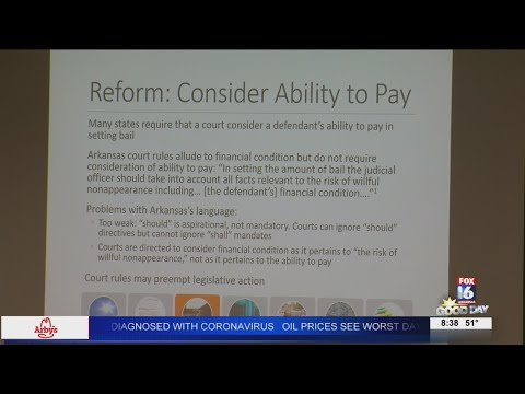 Watch: Ark. state representative proposes interim study to overhaul bail system