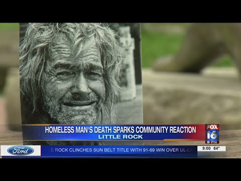 Watch: Homeless man's death sparks community reaction