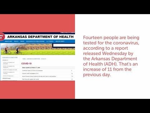 Watch: Update: 14 people under investigation, 111 monitored for coronavirus in Arkansas