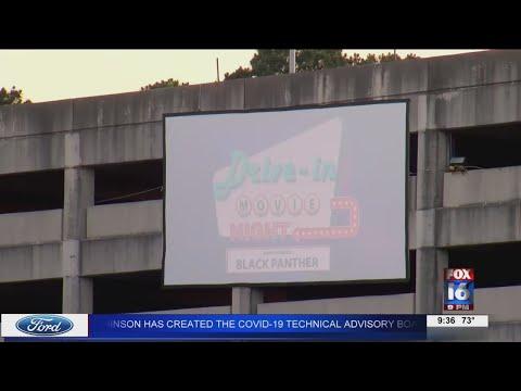 Watch: LR Marathon host drive-in movie night