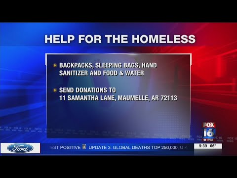 Watch: Maumelle woman partners with The Van to provide supplies to homeless
