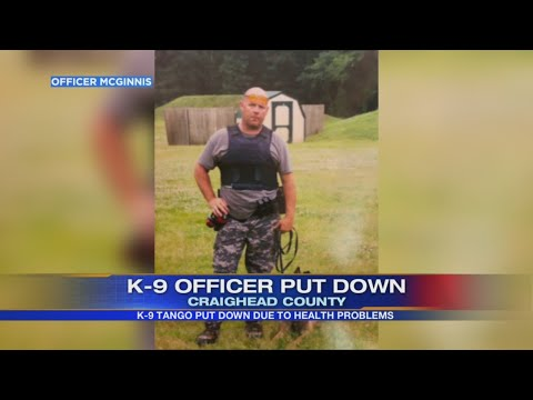 Watch: Bono Police Department lay to rest K-9 Tango