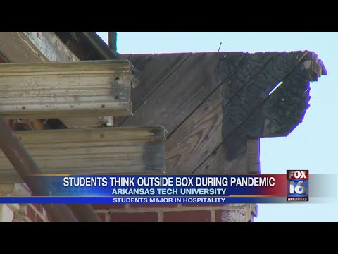 Watch: Arkansas Tech students think outside of box during pandemic