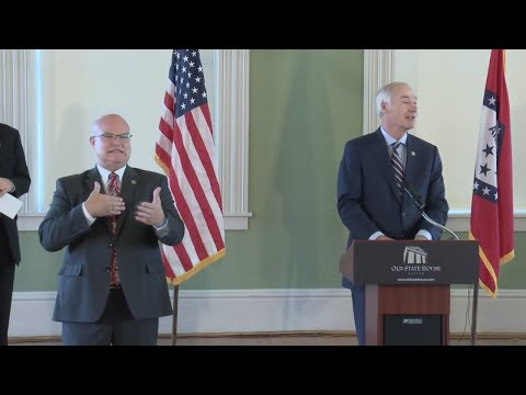 Watch: RAW VIDEO: Gov. Hutchinson gives update on replacing Arkansas's statues in National Statuary Hall