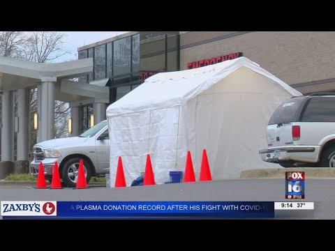 Watch: CHI St. Vincent builds temporary emergency facility for influx of COVID-19 patients