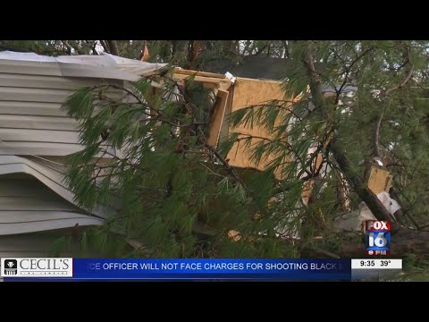 Watch: Woman recovering year later after tree fell on her home