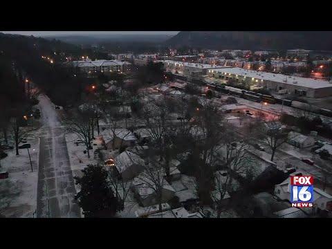 Watch: Little Rock Ice Drone Footage