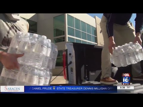 Watch: Local auto dealership steps up to help Benton High School tackle water issue
