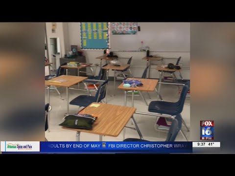 Watch: Pulaski Heights Elementary, Middle School move to Hall High School