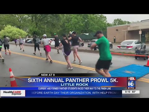 Watch: The Sixth Annual Panther Prowl 5K hit the streets of the Hillcrest neighborhood in Little Rock