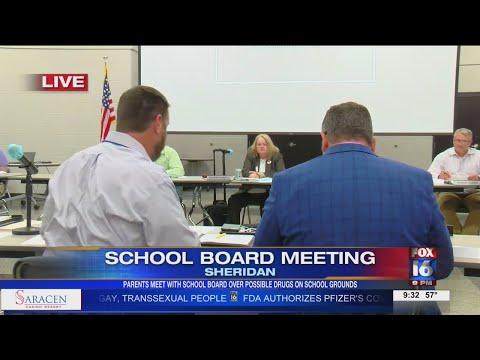 Watch: Sheridan parents meet with school board over student suspensions