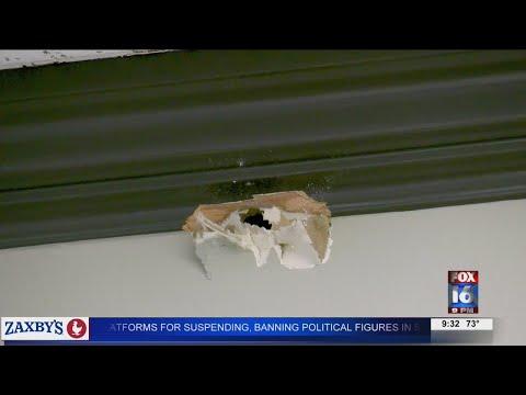 Watch: Shooting in Little Rock leaves bullet hole in nearby office