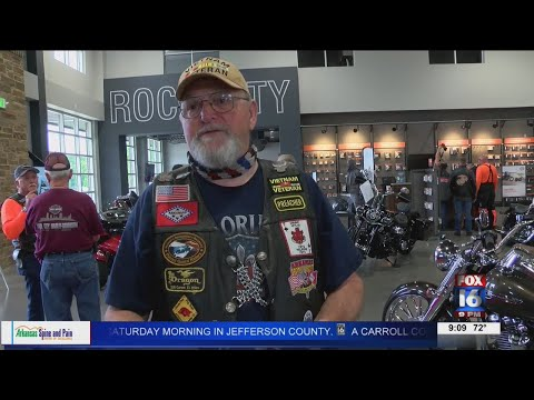 Watch: Little Rock motorcycle rally held in honor of disabled veterans