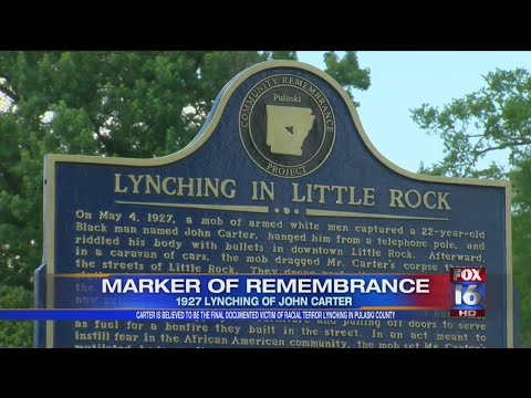 Watch: Marker unveiled to remember last known racial terror lynching death in Pulaski County