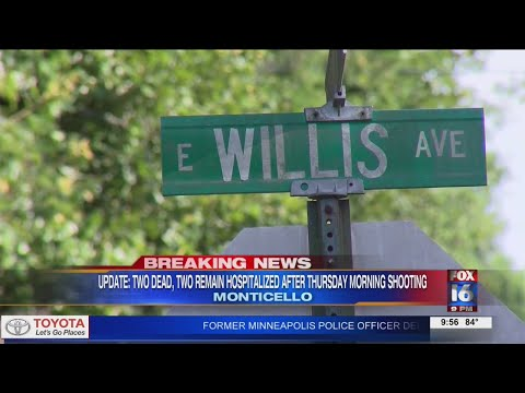 Watch: Two victims now dead after Thursday afternoon Monticello shooting