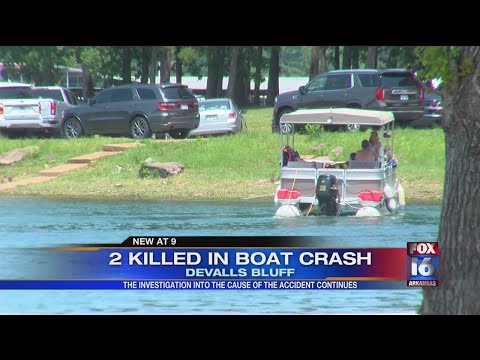 Watch: 2 dead, 1 injured after boat accident in DeValls Bluff