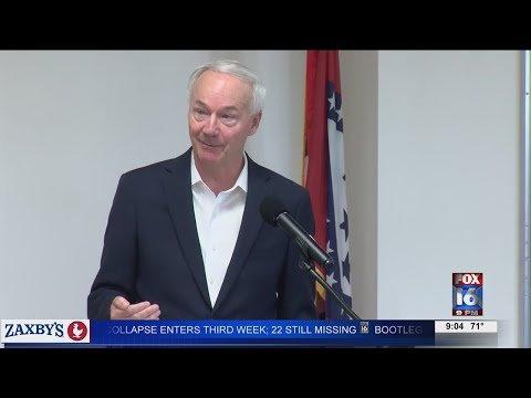 Watch: Governor Hutchinson addresses concerns at Batesville COVID Community Conversation