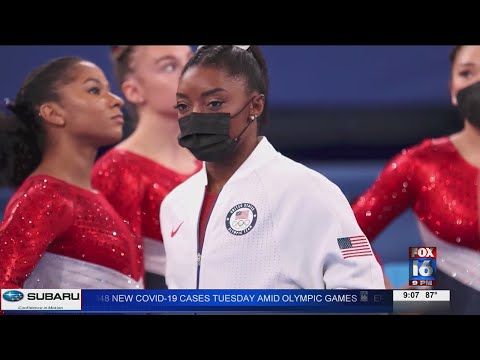 Watch: Simone Biles drops out of team competition