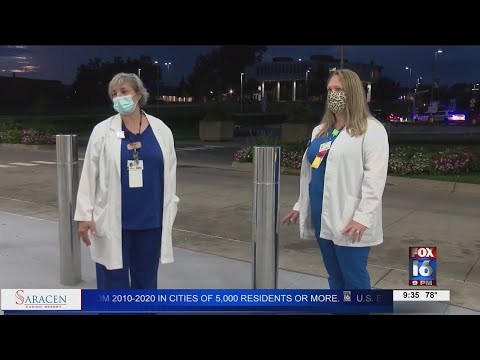 Watch: First responders meet at UAMS to show appreciation to healthcare workers
