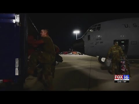 Watch: Little Rock Air Force Base crews help out Afghan refugees as part of Operation Allies Welcome