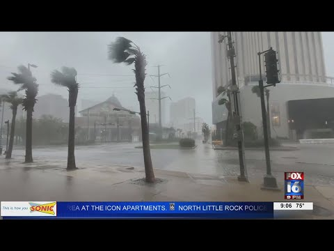 Watch: Louisiana families still fleeing to Arkansas after Hurricane Ida