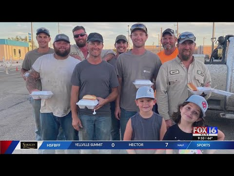 Watch: Louisiana woman feeds Arkansas linemen for a month after Hurricane Ida blasted the coast