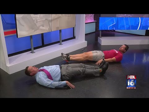 Watch: Get Fit: Exercises to work your core and get your heart pumping